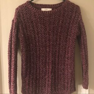 Loft Maroon knit sweater